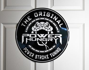 Original Power Stroke Tuners – Metal Embossed Sign